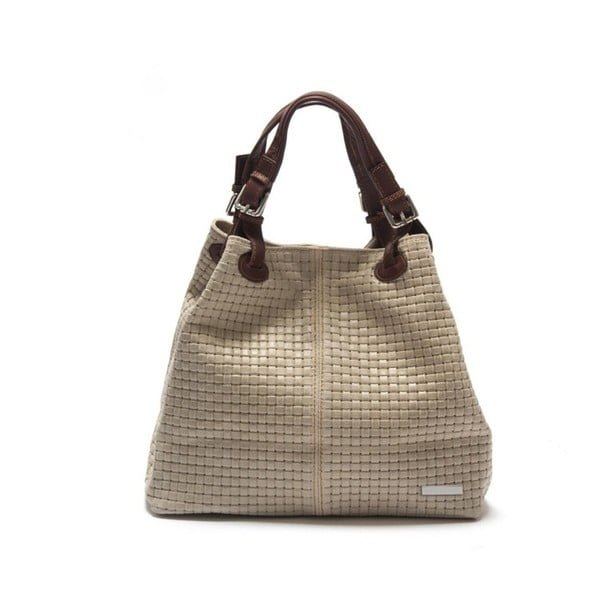 Béžová kožená kabelka Isabella Rhea Hottonia