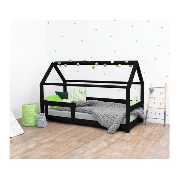Černá dětská postel ze smrkového dřeva s bočnicemi Benlemi Tery, 80x180cm