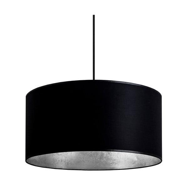 Černo-stříbrné závěsné svítidlo Bulb Attack Tres,⌀40cm