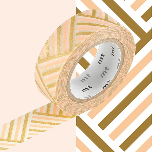 Bandă decorativă Washi MT Masking Tape Cornelie, rolă 10 m