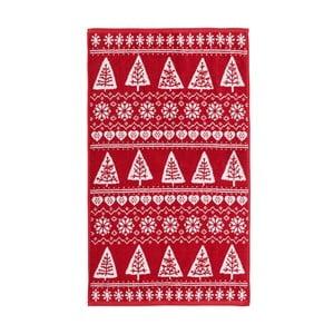 Prosop roșu Nordic Winter, 90x140 cm