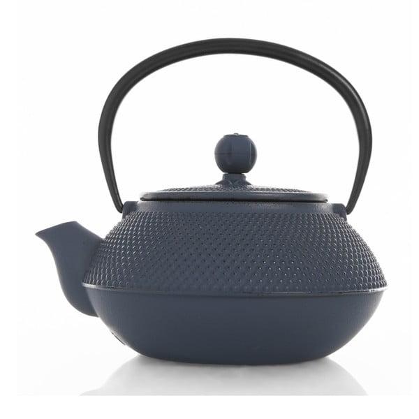 Granatowy żeliwny dzbanek do herbaty Bambum, 800 ml