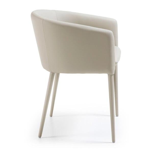 Světle šedá jídelní židle La Forma Harmon