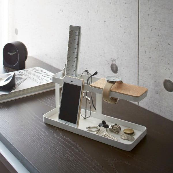 Bílý multifunkční stojánek Yamazaki Tower Desk Bar