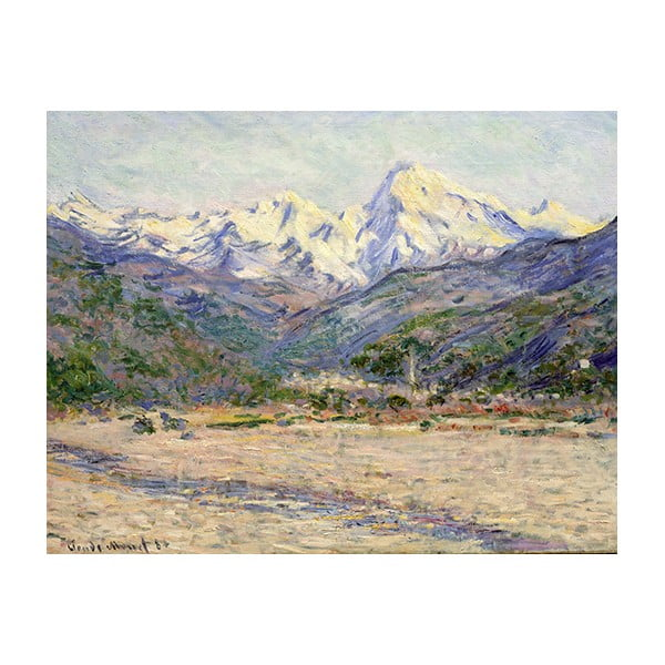 Obraz Claude Monet - The Valley of the Nervia, 90x70 cm