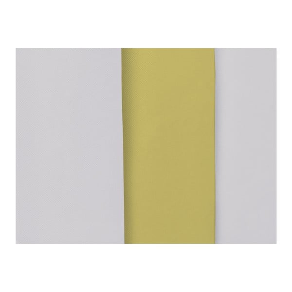 Šedo-žluté čelo postele Mazzini Sofas Dahlia, 120 x 160 cm