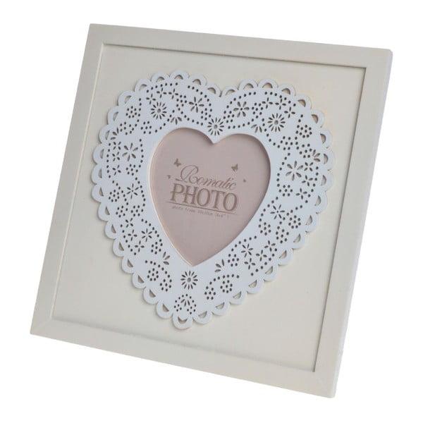 Dřevěný rámeček Heart, 21,5x21,5 cm