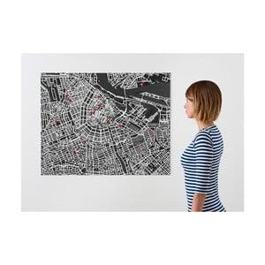 Pin City Amsterdam, černá