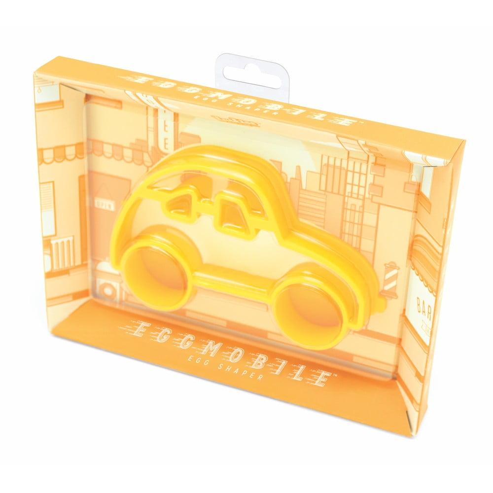 Žlutá formička na vajíčka ve tvaru auta Luckies of London Eggmobile