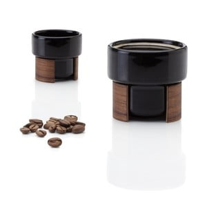 Set hrnků na espresso Warm Black Walnut, 8 cl, 2 ks