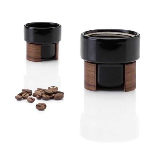 Set hrnků na espresso Warm Black Walnut, 8 cl, 2 ks