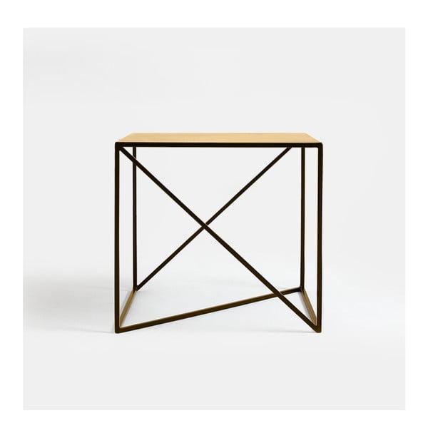 Memo aranyszínű tárolóasztal, 50 x 50 cm - Custom Form