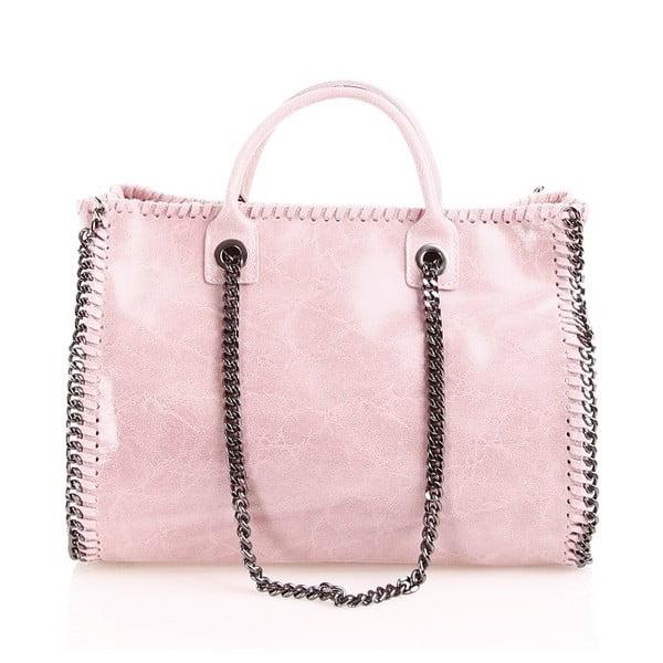 Kožená kabelka Gloria, růžová