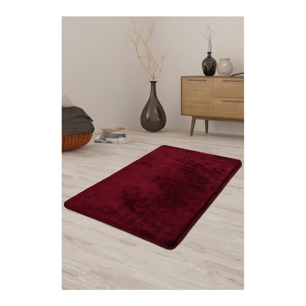Tmavě červený koberec Milano, 140x80cm