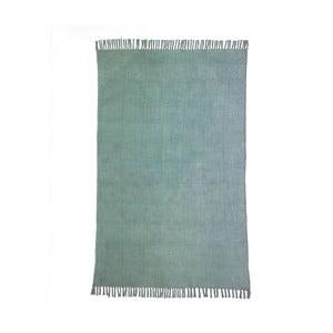 Světle zelený bavlněný koberec Oreste Luchetta Yantra, 195x115cm