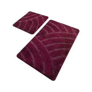 Sada 2 vínových koupelnových předložek Confetti Bathmats Alya Cherry