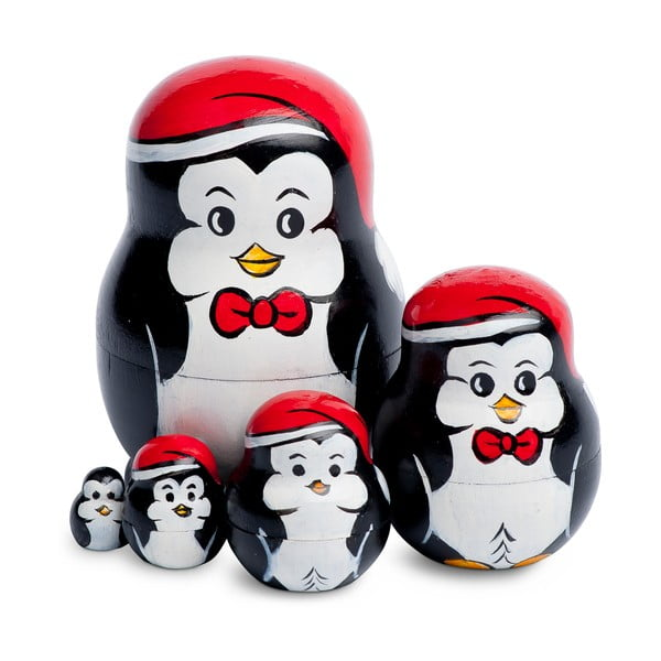 Sada 5 dekorací Penguin