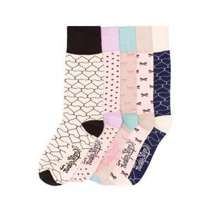 Sada 5 párů barevných ponožek Funky Steps Beiges, vel. 35-39
