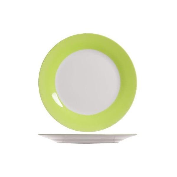 Set čtyř talířů, 27 cm, zelený