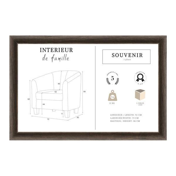 Fotoliu INTERIEUR DE FAMILLE PARIS Souvenir, bej