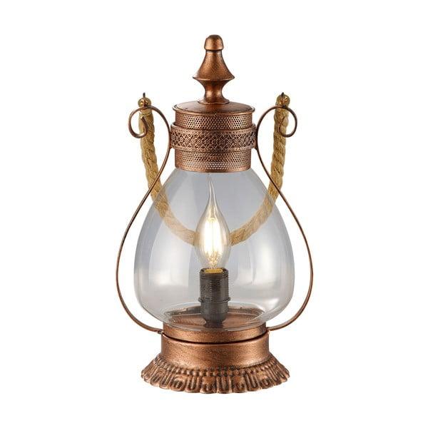 Stolní lampa Linda, měděná