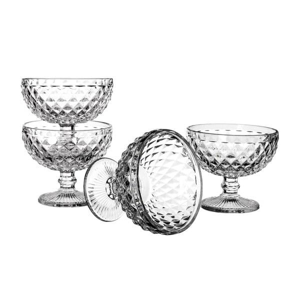 Sada 4 pohárů Unimasa Diamond, 280ml