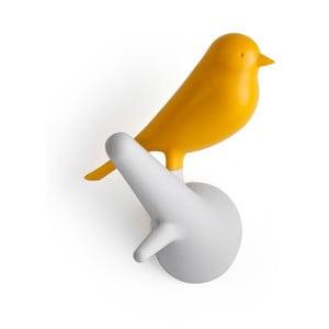 Set 4 háčků vrabčáci, bílá/žlutá