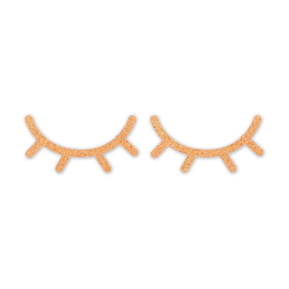 Hnědá dětská nástěnná dekorace Little Nice Things Eyelashes