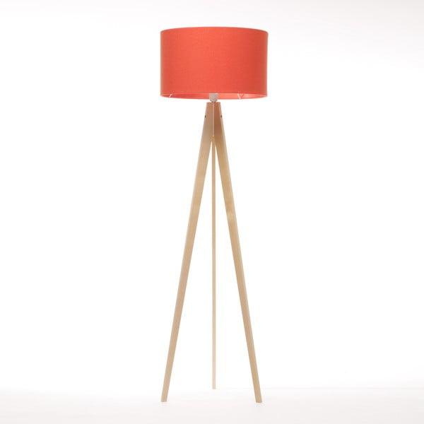 Stojací lampa Artist Red Felt/Natural, 125x42 cm