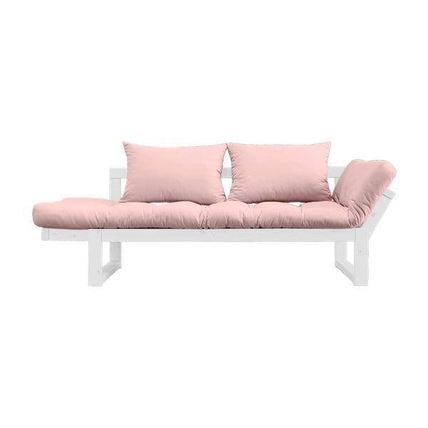 Variabilní pohovka Karup Edge White/Pink Peonie