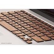 Dřevěný skin pro klávesnici Apple Macbook pro, ořech