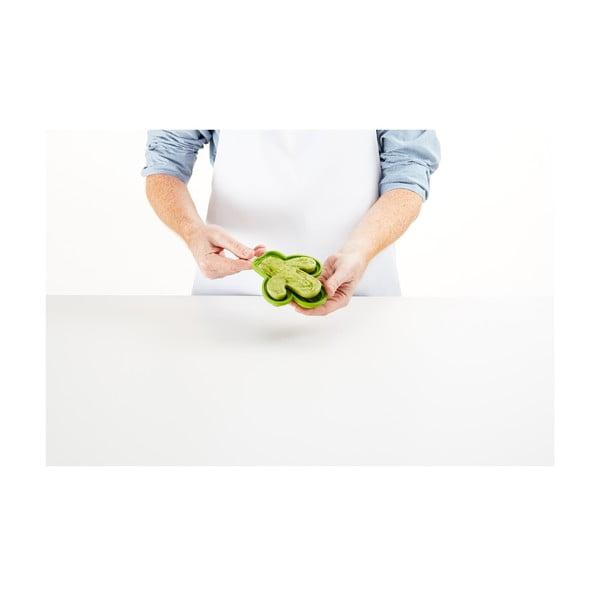 Sada 4 zelených silikonových forem na zmrzlinu ve tvaru kaktusu Lékué