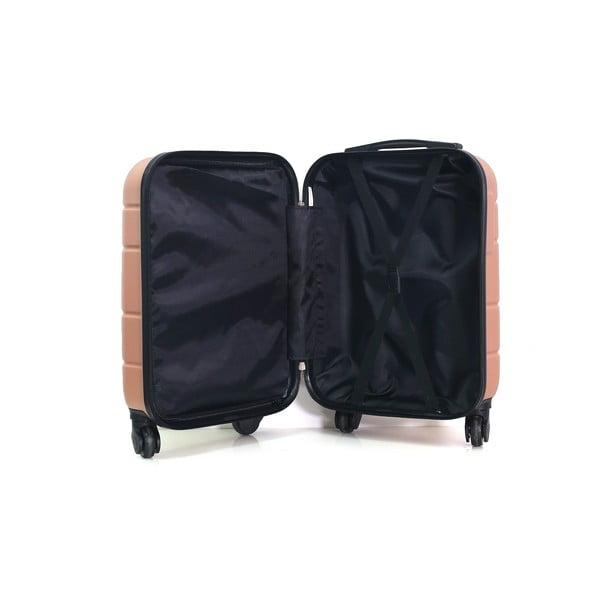Růžovo-béžový cestovní kufr na kolečkách Hero Santiago,30l