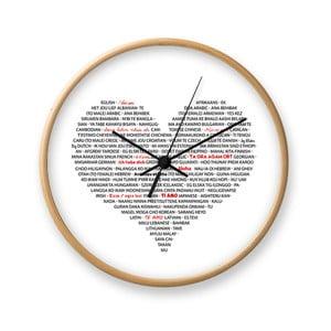 Nástěnné hodiny Tomasucci I Love You
