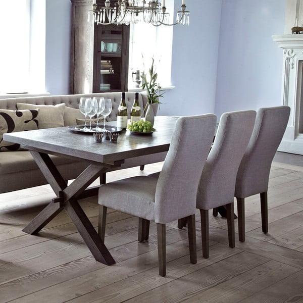 Jídelní stůl Cross Smoked, 190x100 cm