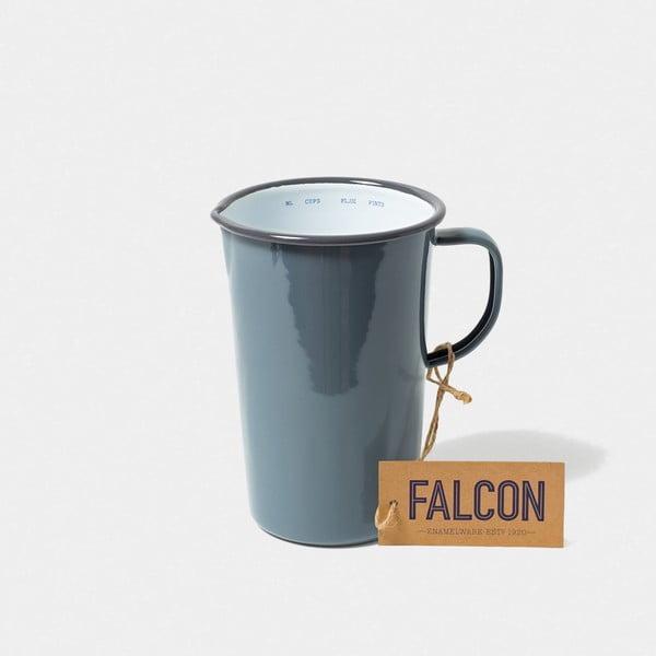 Sivý smaltovaný džbán Falcon Enamelware DoublePint, 1,137 l