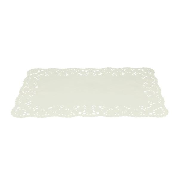 Set 15 suporturi din hârtie pentru prăjituri Metaltex, 30 x 19 cm, alb