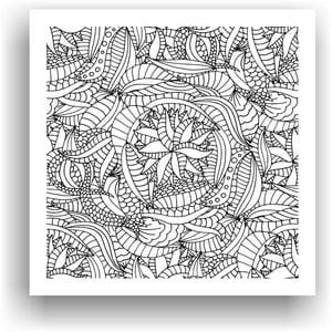 Obraz k vymalování Color It no. 89, 50x50 cm