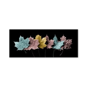 Tablou Styler Glas Pastell Leafes, 50 x 125 cm