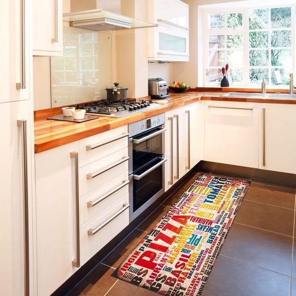Vysokoodolný kuchynský koberec Pizza, 60x150 cm