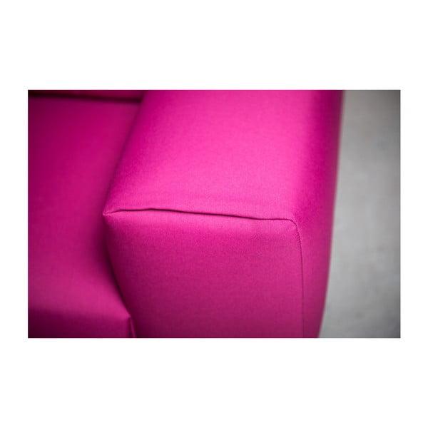 Růžová třímístná pohovka Charlie Pommier Relax