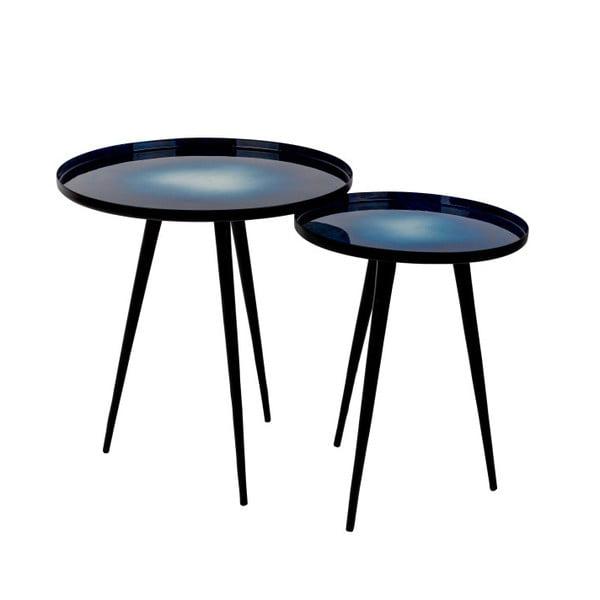 Flow kék kisasztal szett, 2 darab - Zuiver