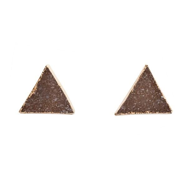 Náušnice z přírodních ametystových trojúhelníků Decadorn