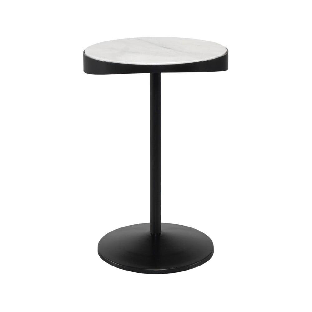 Odkládací stolek s mramorovou deskou Wewood - Portuguese Joinery Drop, Ø40cm