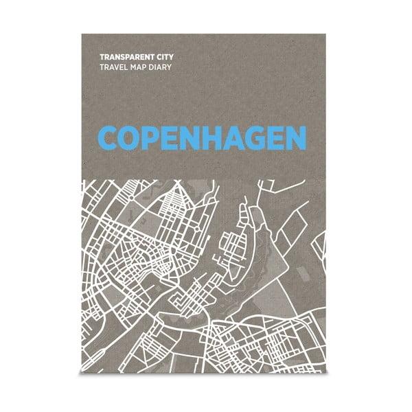 Mapa na popisky Transparent City Kodaň