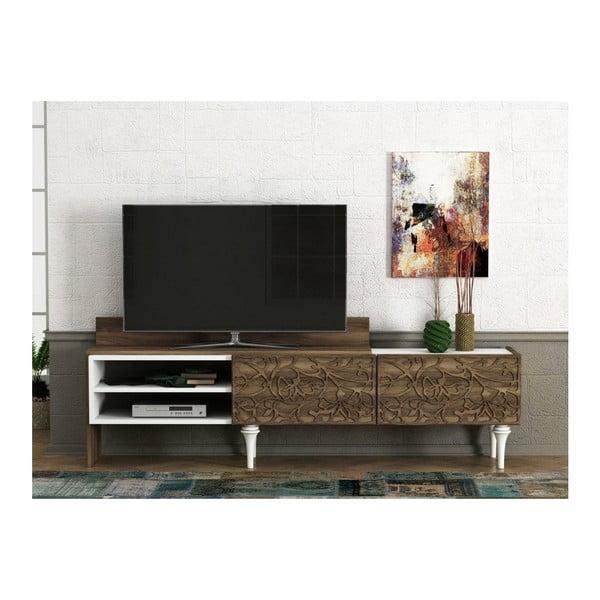 Szafka pod TV w dekorze drewna orzecha Lenti