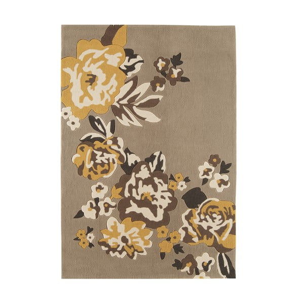 Koberec Asiatic Carpets Harlequin Flora Brown, 120x170 cm