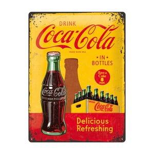 Plechová cedule Yellow Drink Coca Cola