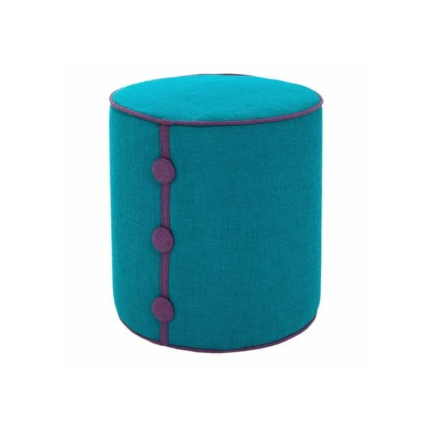 Puf Dots Turquoise/Purple