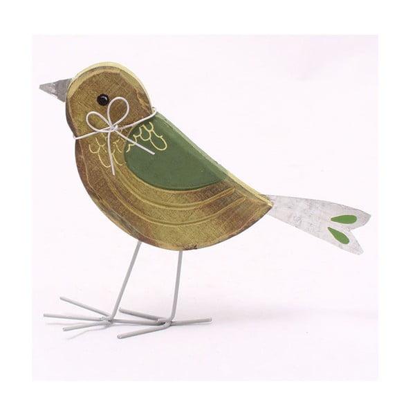 Dekorativní dřevěný ptáček, 14 cm